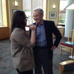 Hannah and former OSU pres. John Byrne