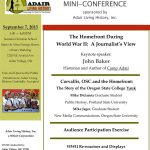 2013 Adair History Day Flyer