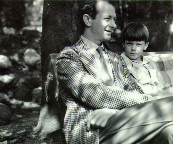 Peter Pauling with his father, 1937.