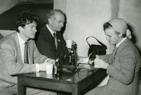 Peter Pauling with his parents, ca. 1950s.