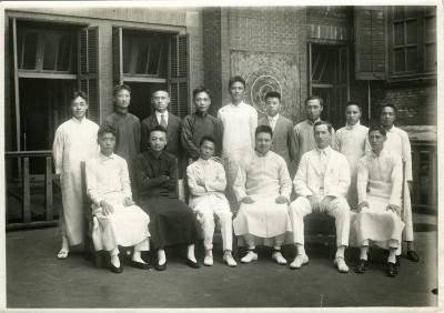 J. C. Clark with colleagues at Shanghai YMCA