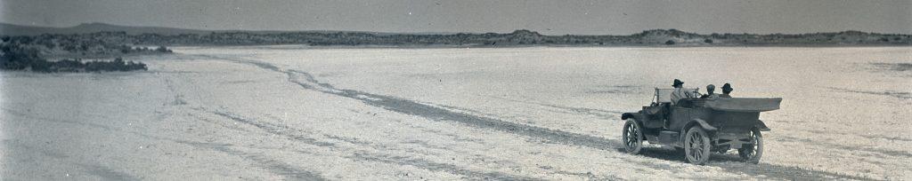 Motoring across Alkali Flats, 1912. Org. Lot 369, Finley B0160.