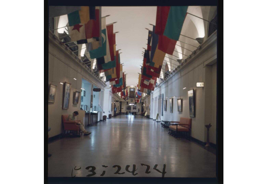 The Hall of Flags on the main concourse of the Memorial Union. P003:2474