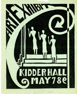 Art exhibit flyer from 1937