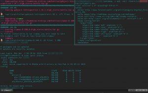 tmux (terminal multiplexer) window