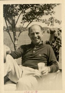 Milton Harris relaxing on the golf course