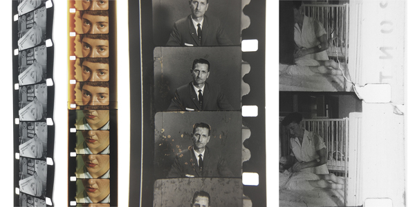 "Warped perforations on one edge, possibly caused by faulty equipment; Dirt, and dirty splices, especially in the first feet of the films (in this sample it is also appreciable what seems to be color fading on the film edges); Orange dots on the image of a B/W film (I have seen photos of similar damage on B/W microfilm, known as ""redox blemishes"" or localized zones of silver corrosion); Image and perforation breakage."