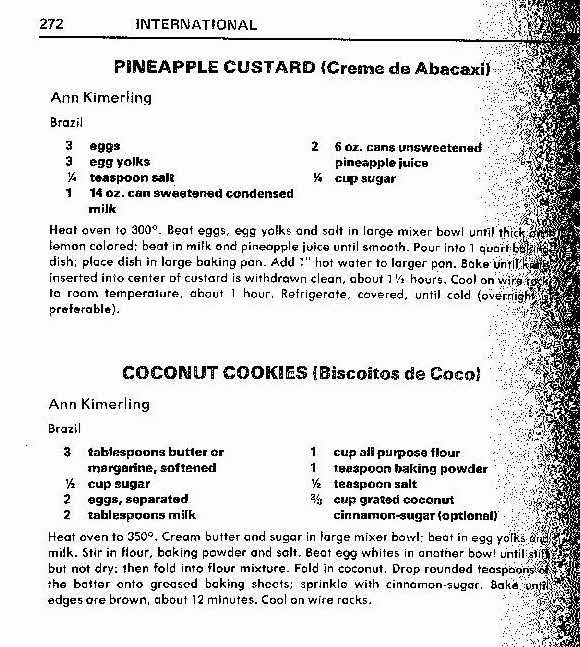 folk club pineapple custard and coconut cookies