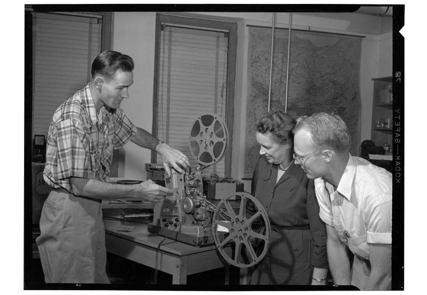 Film projection demonstration, P082:78-1053