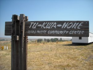 Tu-Kwa-Hone Burns Paiute Community Center Sign