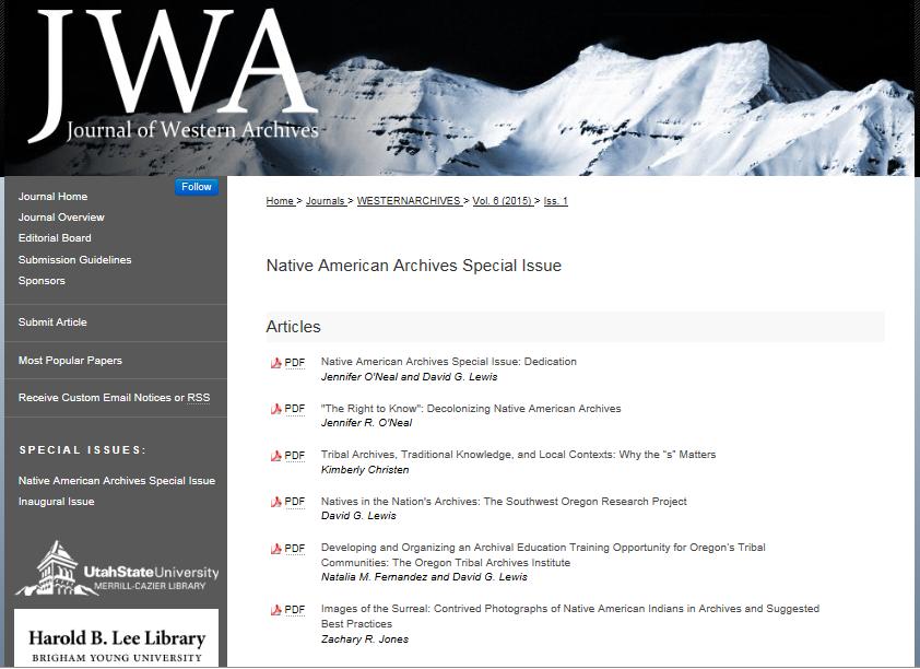 JWA Vol 6 Issue 1