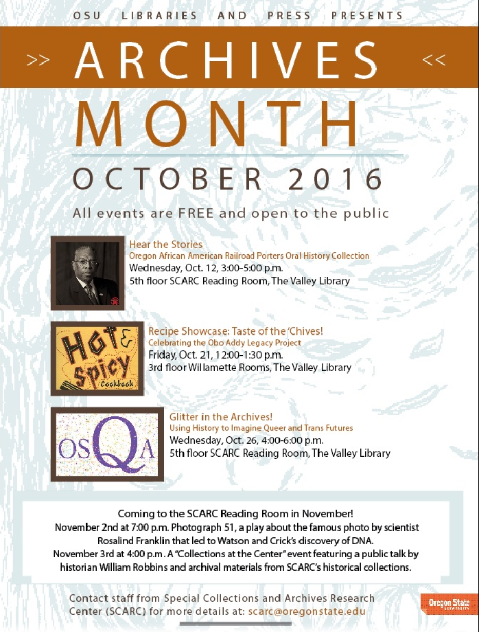 Oregon Archives Month 2016 Events