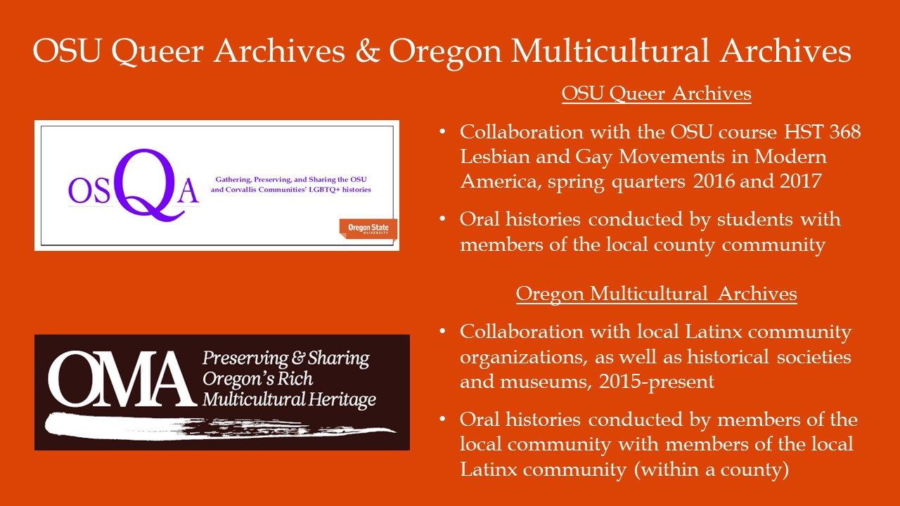 Oregon multicultural archives blog assisting in preserving the for communities who have been traditionally marginalized in both the historical record and in historiography oral histories can be a form of empowerment xflitez Images