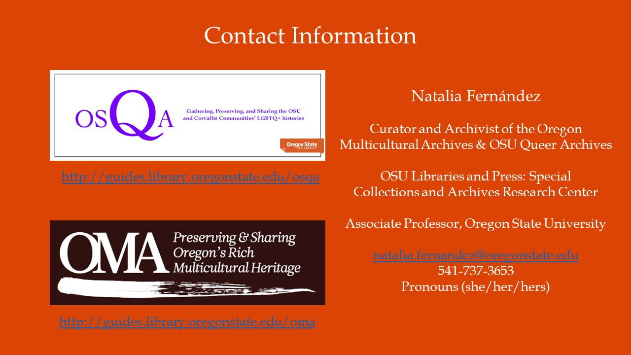 the oma at saa 2017 | oregon multicultural archives blog, Presentation templates