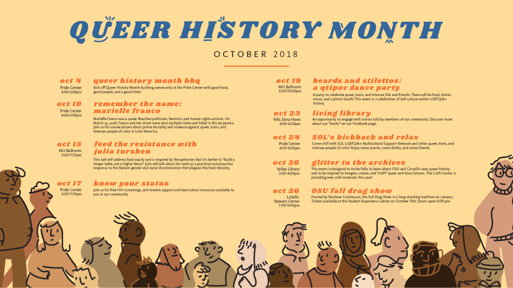 2018 Queer History Month