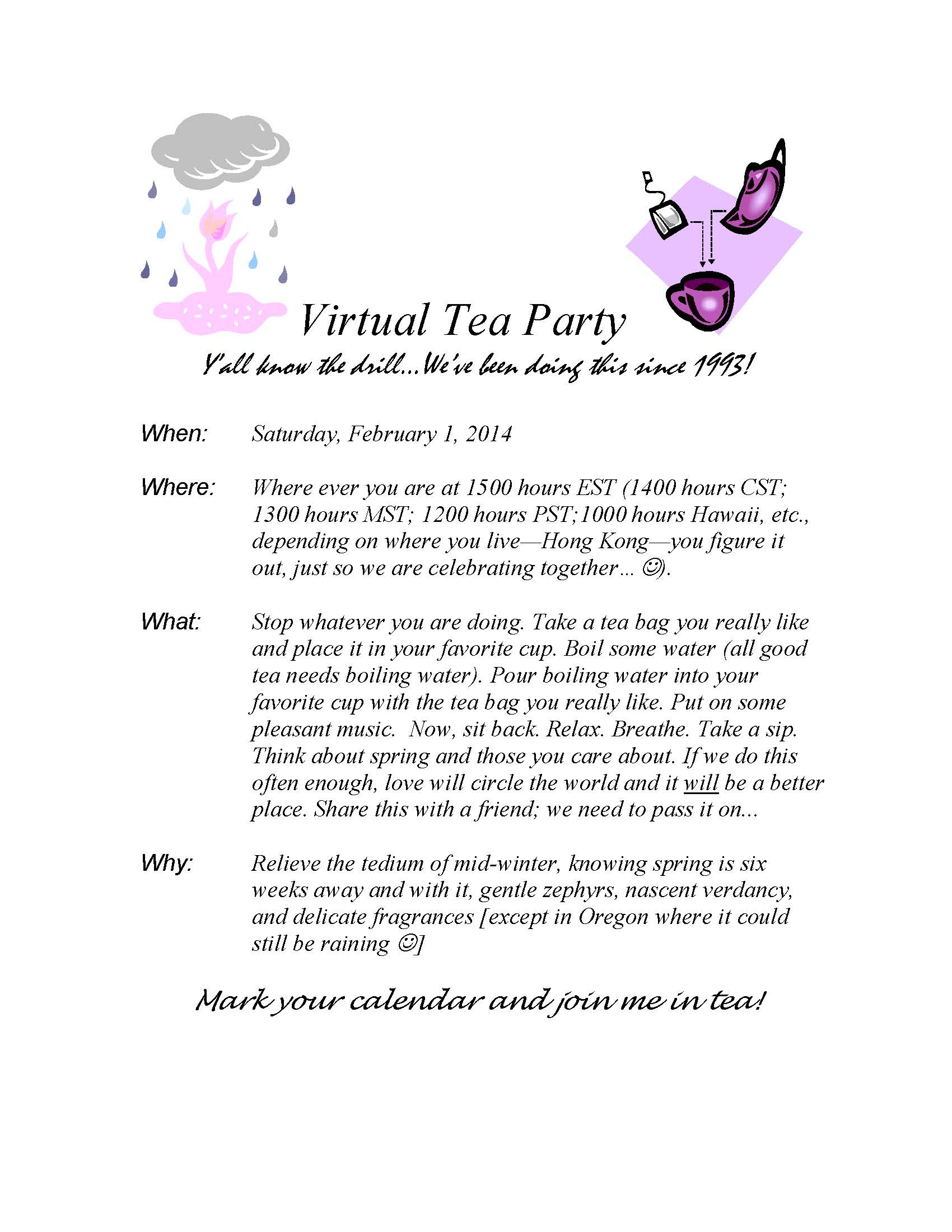 Virtual Tea Time 2014