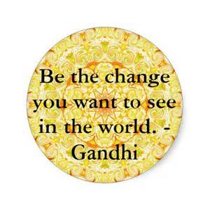 gandhi and change