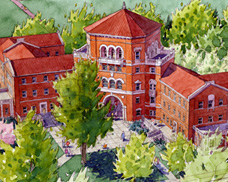 A sketch of Weatherford Hall