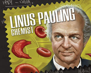 Linus Pauling Commemorative Stamp