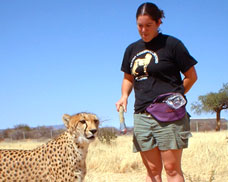 Michelle Bacon spent months with Cheetahs