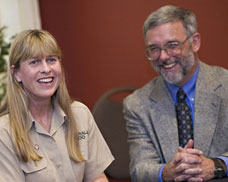 Terri Irwin and Bruce Mate