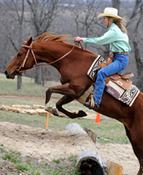 Marla riding Lucy