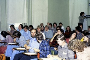 Class of 1983 in old Dryden Classroom.