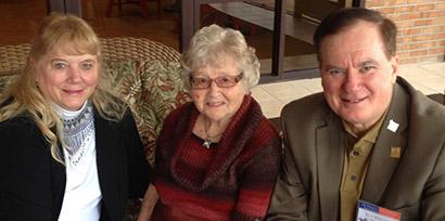 Dr. Linda Blythe, Rachel Wedman, and Dr. Morrie Craig.