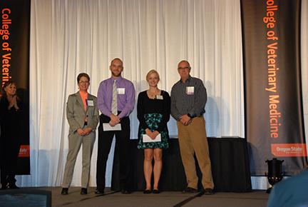 Willamette Valley Animal Hospital Scholarship - Dr. Sheri Morris, Tyler O'Loughlin, Erin Flannery, Mr.John Maddigan