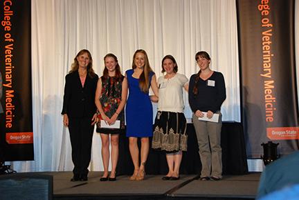 Pet Memorial Program Academic Excellence Award - Sue Tornquist, Morgan Movius, Nicole White, Ginny Schulken, Claire Lemons