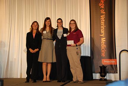 Don and Betty Bailey Scholarship - Sue Tornquist, Michelle Janik, Anna Robledo, Niki Fadden