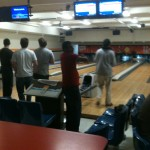 Students bowl at the BSG Student Awards