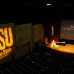 The 2012 MBA Graduation Celebration stage.