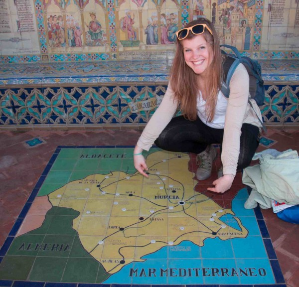 Exchange student Lyndsay Toll in Murcia, Spain