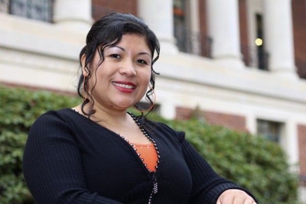 Maria Jimenez, chair of the Dean's Student Leadership Circle at the Oregon State College of Business, returned to school after more than a decade to raise her family.