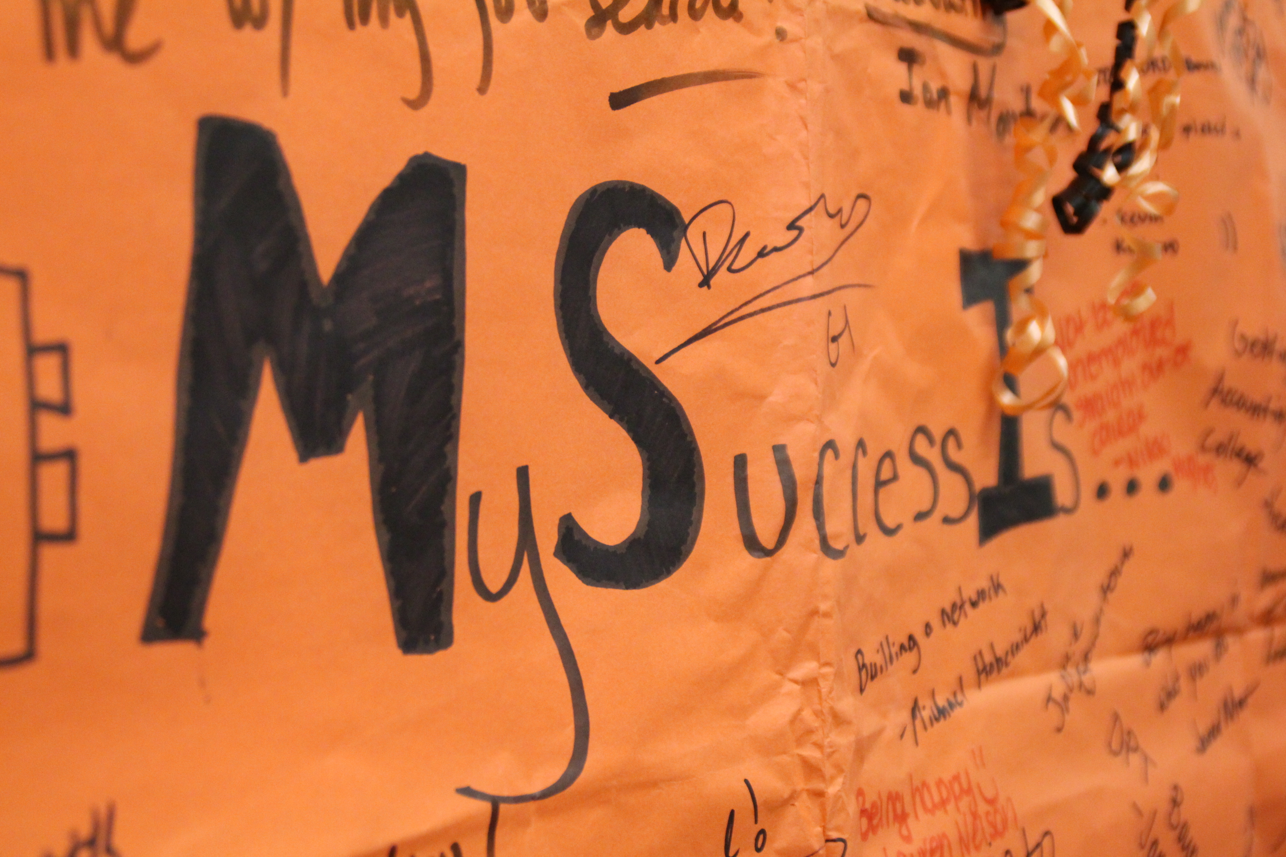 oregon state career success center asks what does success mean to you my success is butcher paper