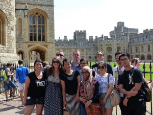 Oregon State College of Business Students at Windsor Castle