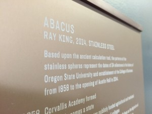 abacus plaque