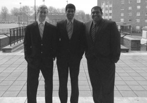 College of Business student Aaron LaVigne, left, has teamed up with College of Science student Dustin Fernandes, right, and recent Oregon State graduate Vinay Bikkina to organize the TEDx event.