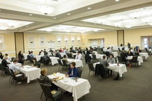 Employers and students descended on the CH2M HILL Alumni Center ballroom for the mock interviews.