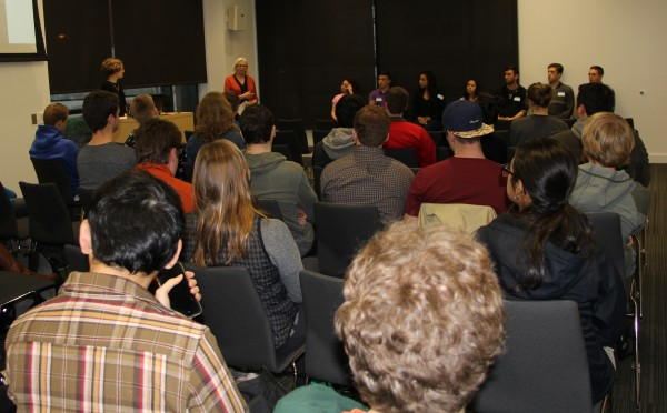 A panel with first-hand experience shares advice about studying abroad.