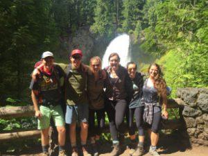 Summer Scholars at Sahalie Falls