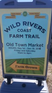 One of the products of the Rural Tourism Studio - now the produce sold at Bandon farmers market is a part of a network of local farmers that make up the Wild Rivers Coast  farm trail.