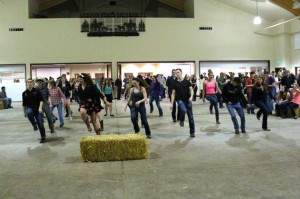 A front view of the line of dance at the CAS Dance!
