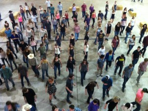 An overhead view of the CAS Dance.