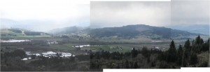 panoramic view from Chehalem Ridge