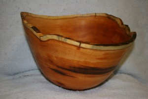 Yew wood bowl.  Photo by Dick Powell