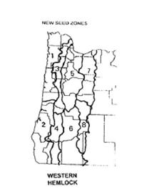 Hemlock seed zone map