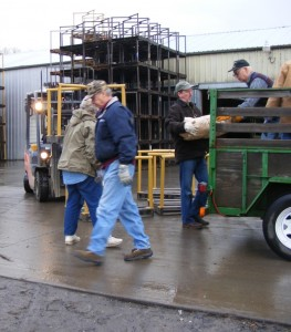 Loading seedlings into WCSWA trucks and trailers. Photo: Bob Shumaker