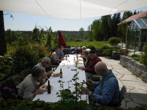 We enjoyed a wonderful Swedish Mid-Summer style lunch while enjoying the beautiful setting.